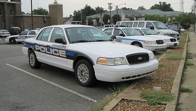 A Jonesboro police officer has fatally shot a man who authorities say attacked the officer with a machete.