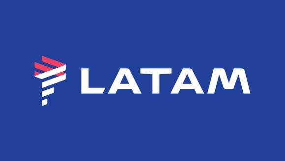 The new LATAM logo revealed on Thursday. By 2018, both