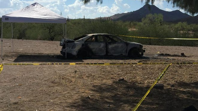 A body was discovered in the trunk of a burned car near Arva Valley.