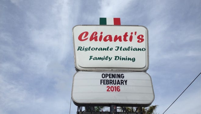 Set to open in late February/early March, Chianti's will offer what owner Brian McCarley calls old-school Italian.