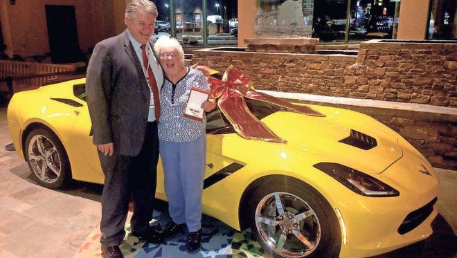 Betty Bloomquist, Ladora, won a 2015 Chevrolet Corvette Stingray Dec. 20, at Meskwaki Bingo Casino Hotel.