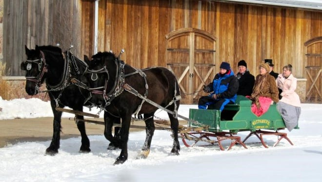 Horse-drawn sleigh rides will be available at Wade House on most weekends in January and February.