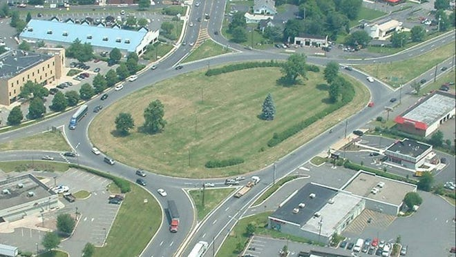 The Route 202/31 circle in Flemington.
