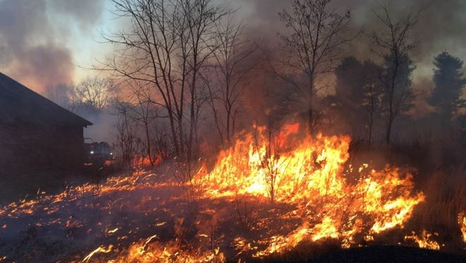 Section B-10 Rx burn at Monmouth Battlefield State Park on 01/06/2016
