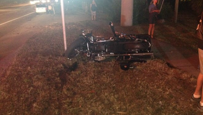 A motorcyclist was seriously injured in a crash on U.S. 1 in Palm Shores on Thursday evening.
