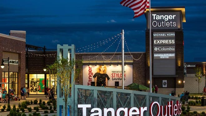 The sign at the Grand Rapids, Mich., Tanger Outlets.