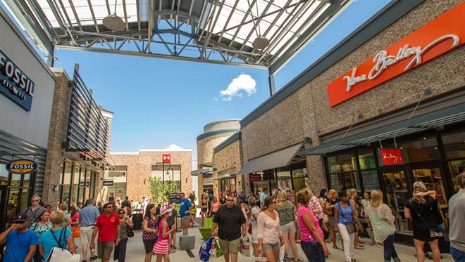 A view of the Tanger Outlets in Grand Rapids, Mich.