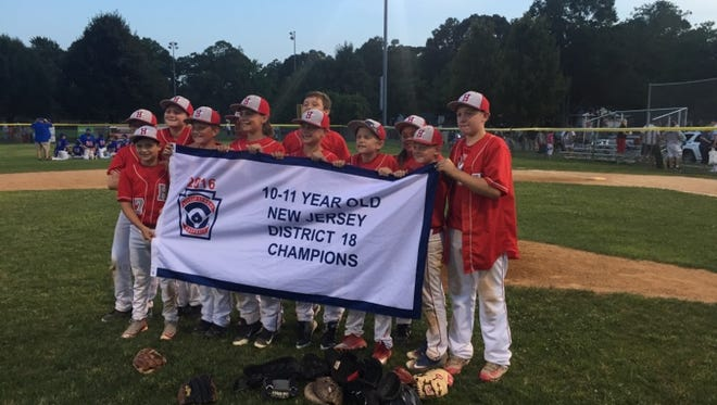 The Holbrook 11U team won the District 18 championship on Thursday night at Berkeley Little League.