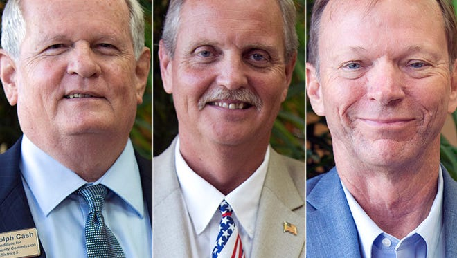 District 5 candidates Randy Cash, Bill McDaniel and Doug Rankin.