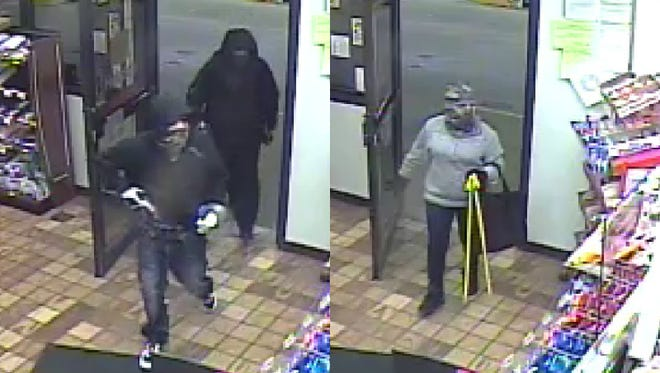 Police are searching for three people who robbed an Abbotsford gas station on Sept. 18, 2016.