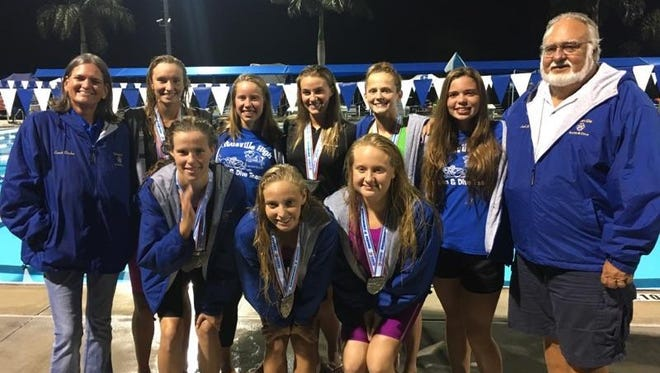 Titusville High's girls were third at the 2A swimming and diving on Saturday.