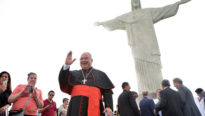 Cardinal Orani João Tempesta, Archbishop of Rio de Janiero, launches the Friends of Christ the Redeemer campaign on Dec. 13, 2016, to raise funds to restore the famous statue. Photo courtesy of Raphael Freire Portal ArqRio