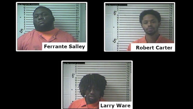 Three Hardin County men were charged in connection with a gun shop burglary in Elizabethtown in mid-December