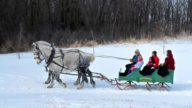 The public is invited to Wade House's Sleigh Ride Weekends, scheduled for every weekend in January through March beginning Jan. 7-8. Weather dependent.
