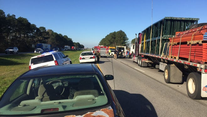 There were two separate crashes on Interstate 10 near Duson Friday. One person was killed.