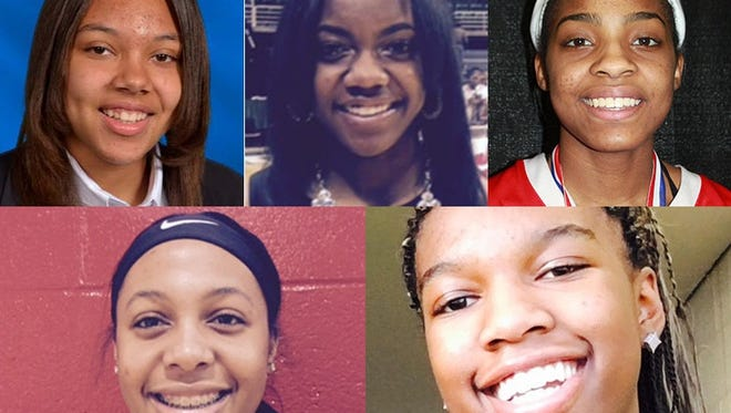 Clockwise from top left: Destiny Pitts, Jordan Walker, Kierra Fletcher, Kamaria McDaniel and Deja Church