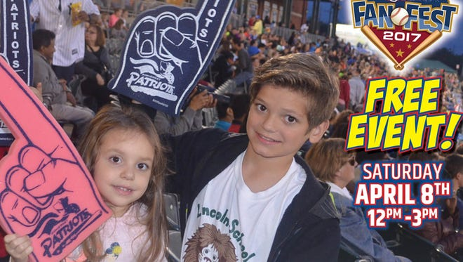 The Somerset Patriots have announced that their annual Fan Fest will take place on Saturday, April 8, at TD Bank Ballpark in Bridgewater from noon to 3 p.m.