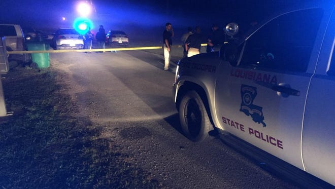 Two people were killed and an officer injured in an shooting in Crowley on Wednesday March 22, 2017.