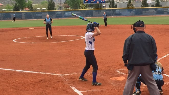 Canyon View had to rally, but they made sure to put on a show in Saturday's 15-5 win over Dixie. CV's Kelsee Hyatt led the way with two home runs.