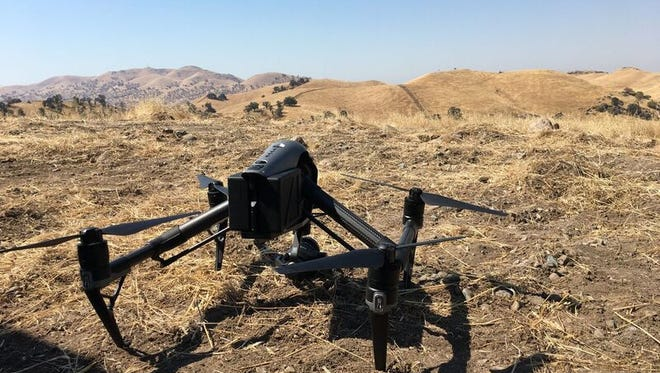 A drone is used to make AT&T cell tower inspections more efficient and safe.