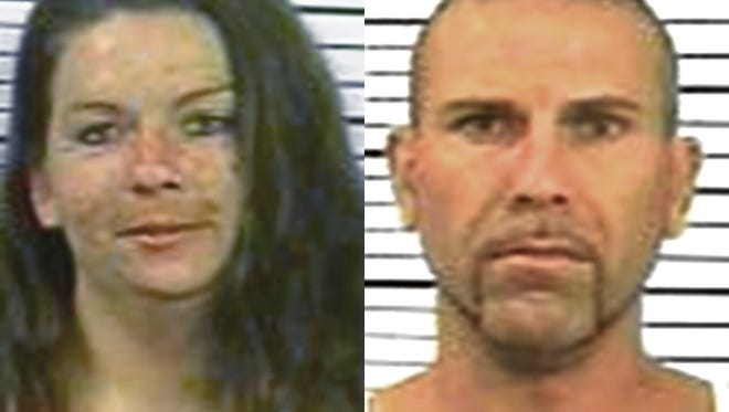 Veronique Henry, 32, of East Manchester Township, left, and Paul Henry III, 41, of East Manchester Township, right.