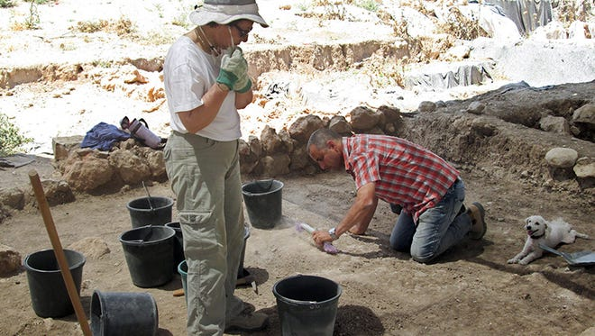 American university students excavate what Israeli archaeologists believe is the site of Gath, the hometown of the biblical Goliath. In officially sanctioned digs like this one, all artifacts are carefully excavated, photographed and catalogued.