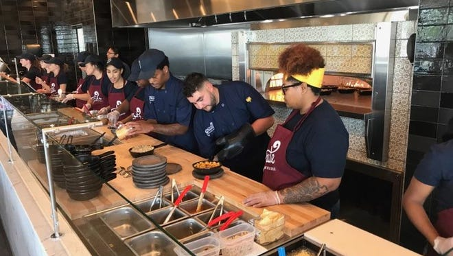 "Grate Modern Mac and Cheese, Roaring Fork Restaurant Group's introduction of fast-casual modern mac and cheese in southeastern Wisconsin, opens its doors Tuesday, Aug. 29, in the Whitestone Station in Menomonee Falls. The 2,500-square-foot restaurant features 10 to 12 gourmet mac and cheese entrees, such as ""Buffalo Chicken,"" ""Chicken Bacon Jalapeno Ranch"" and ""Green Chile Pepperjack."""