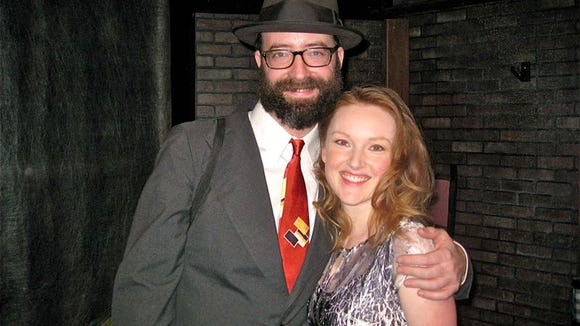 """Trevor Wheetman and Sylvie Davidson during the off-Broadway production of """"Lonesome Traveler."""""""