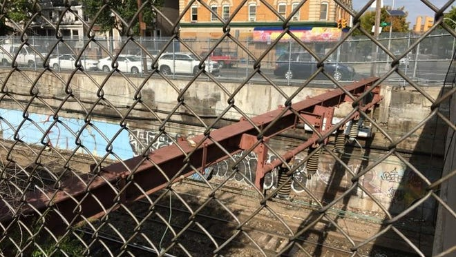 NJ Transit is inspecting the retaining walls along its lines in Newark for structural problems.