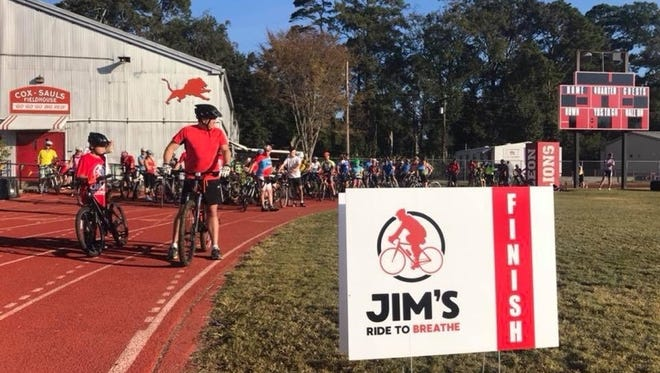 The first annual Jim Sauls Ride To Breathe event was held Sunday.