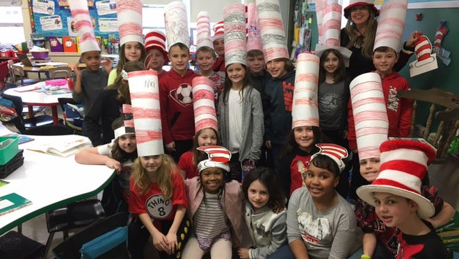 Hat's off to the students of Main Road School in Franklin Township, who won the chance to read during a live Courier-Post broadcast on Dr. Seuss' birthday.