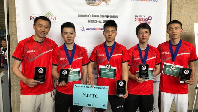 The New Jersey Table Tennis Club (NJTTC)  team wins America Team's Table Tennis Championship for the 4th year in a row in Rockfort, Illinois on May 27.