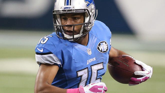 Lions wide receiver Golden Tate