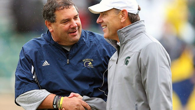 Michigan coach Brady Hoke and Michigan State coach Mark Dantonio.