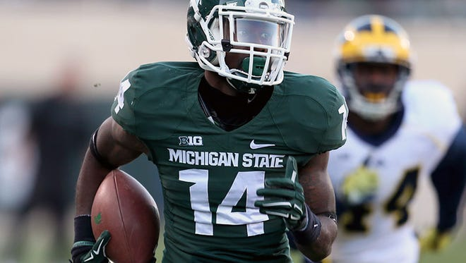 Michigan State wide receiver Tony Lippett