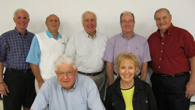 The Estero Council of Community Leaders' board of directors, from left to right, front row: Phil Douglas, Marilyn Edwards. Back row: Roger Strelow, Howard Levitan, Nick Batos, Bob Lienesch and Jim Boesch.