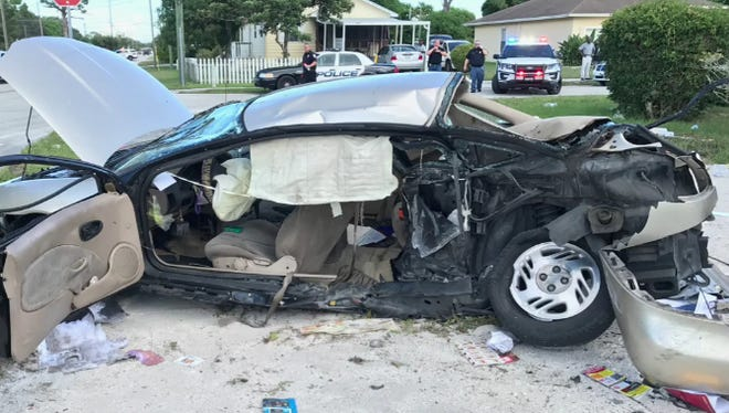 Carla Smith was driving a Saturn when the car was struck on its driver's side by a drunk driver on Sept 1. Fort Pierce police charged the driver with Smith's death.