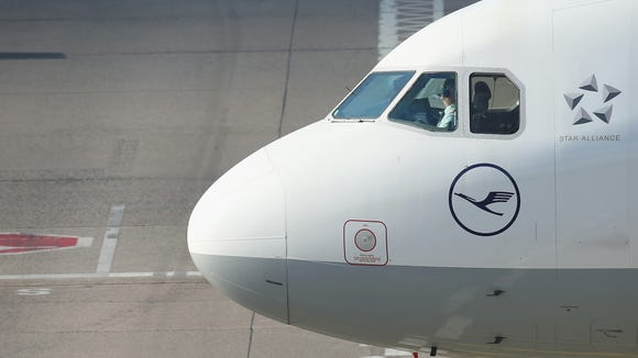 A Lufthansa aircraft at Berlin's Tegel Airport on Oct.