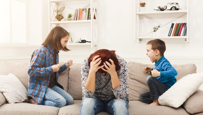 """Sibling squabbles can drive parents crazy. """"Unless you're concerned about physical harm, you want your kids to work this stuff out themselves,"""" says Kirsten Adams is a Westwood-based family therapist. But if the arguing turns physical, she suggests checking in to make sure the situation isn't getting out of control."""