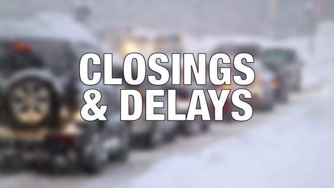 Closings and delays