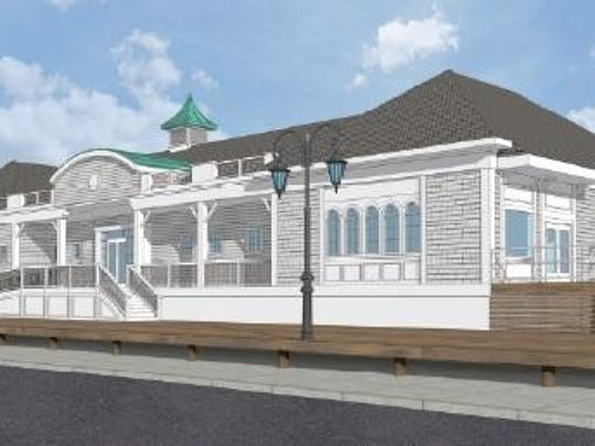 A rendering of the proposed Taylor Avenue pavilion in Belmar.
