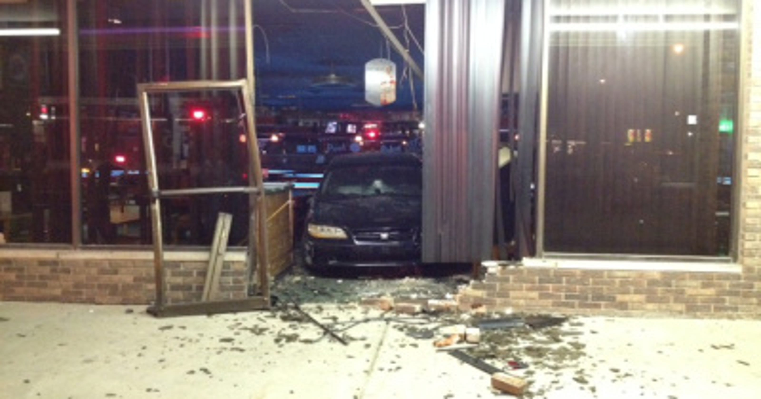 No injuries after car crashes into Southside bar