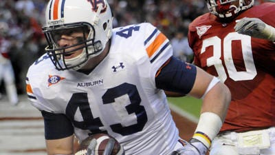 Former Auburn tight end Philip Lutzenkirchen will be honored with a moment of silence prior to Saturday's season opener.
