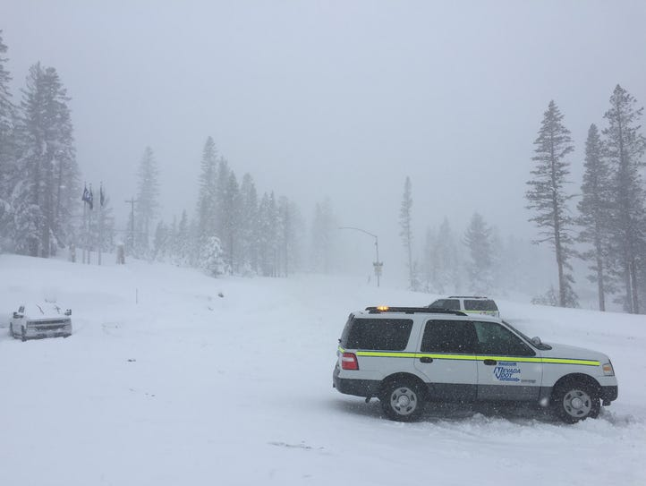 Mt. Rose Highway was closed due to an avalanche over