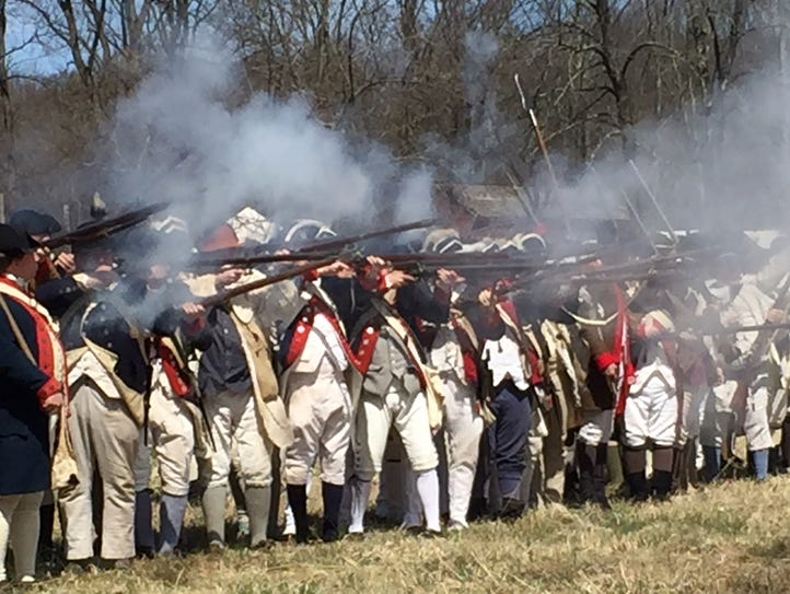 A firing demonstration at the Grand Encampment at Jockey