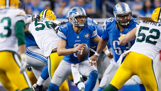 Matthew Stafford and the Lions get the Packers at home to end the 2016 season (Jan. 1, 2017).
