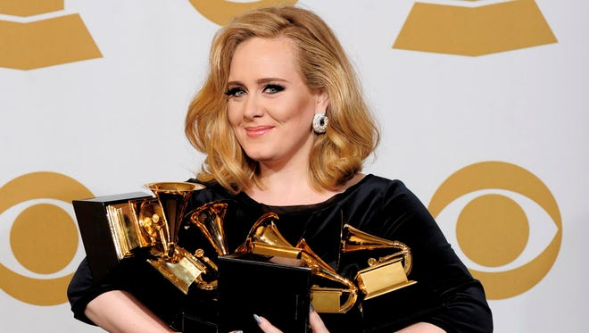 Adele won six Grammys five years ago this Sunday. Will she be a big winner at the Grammy Awards Sunday?