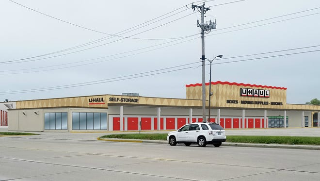 An artist's rendering of renovations to the former Kmart on Muncie's north side to become a U-Haul center and self-storage.