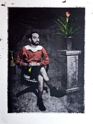 "Zack Rafuls, ""Portrait of the Artist as Olive Oyl,"""