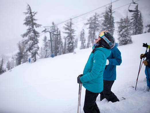 More than 4 feet of snow fell at Squaw Valley Alpine